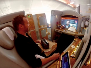 Emirates-First-Class-A380-Seat-with-Amenities-Excitement