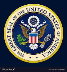 The Great Seal of the US Royalty Free Vector Image